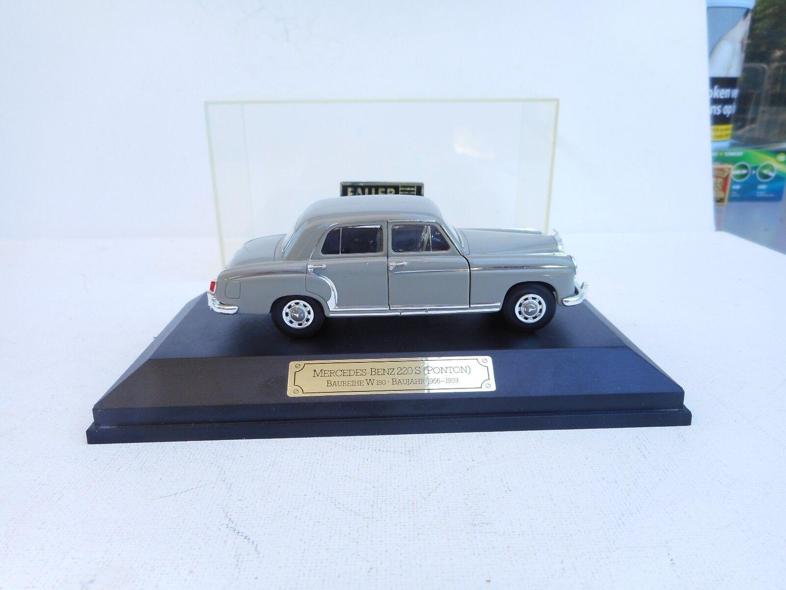 1 43 Faller Memory bils grå Grun Mercedes -Benz 220 S Ponton 1 43