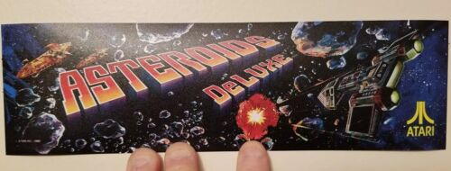 Asteroids Deluxe marquee sticker. 3 x 10.5. (Buy 3 stickers, GET ONE FREE!)