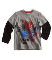 Boys BNWT MARVEL SPIDERMAN long sleeve top t-shirt tshirt 3 4 5 6 7 8 9 10 yrs