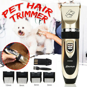 Pet-Dog-Clipper-Grooming-Trimmer-Animal-Hair-Professional-Electric-Shaver-Kit-UK