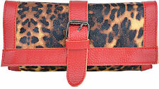 Cute Retro Red LEO Leoparden CLUTCH / Tasche Rockabilly