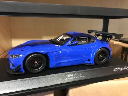 Streetversion Blau 1:18 BMW Z4 GT3 Minichamps
