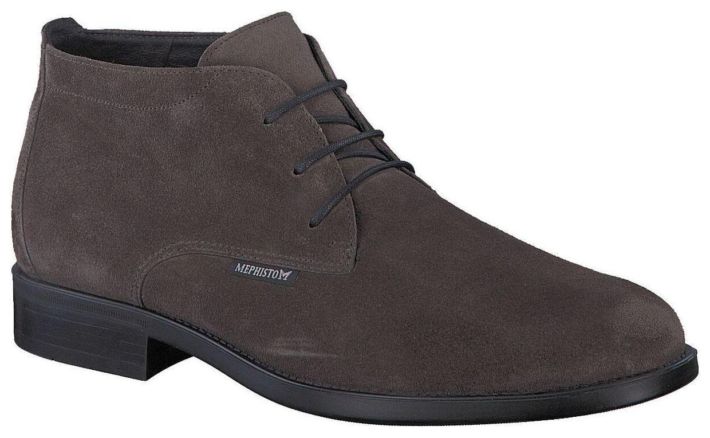 Men's Lace Up Suede Chukka Boots Mephisto Claudio Dark Grey UK Size 6.5