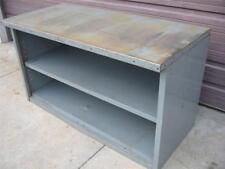 Steel Metal Work Bench Table Tool Shop Utility Shelf Workbench Cabinet 60x34x28