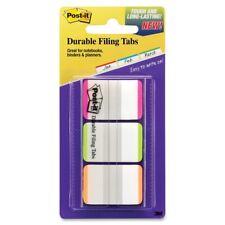 Post It Durable File Tab Write On 66 Pack Pink Green Orange Tab