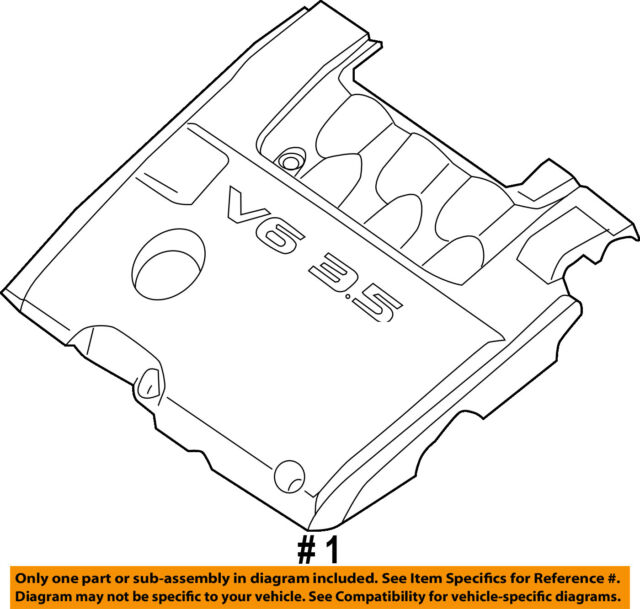Infiniti Nissan Oem 2013 Jx35 Engine Appearance Cover Engine Cover