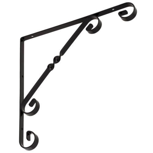Regalwinkel Ornament Twist 250 mm Regalträger Regalhalter Wandkonsole schwarz 25