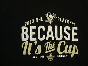 NHL Pittsburgh Penguins 2013 Stanley Cup Playoffs Old Time Hockey T Shirt L