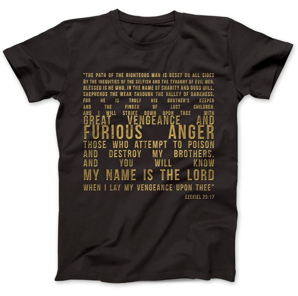 Ezekiel 25:17 T-shirt 100% Premium Coton Samuel L. Jackson Pulp Fiction Citation