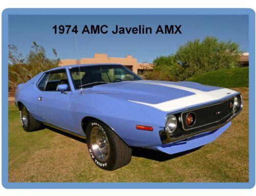 1974 AMC Javelin AMX  Auto Refrigerator / Tool Box  Magnet