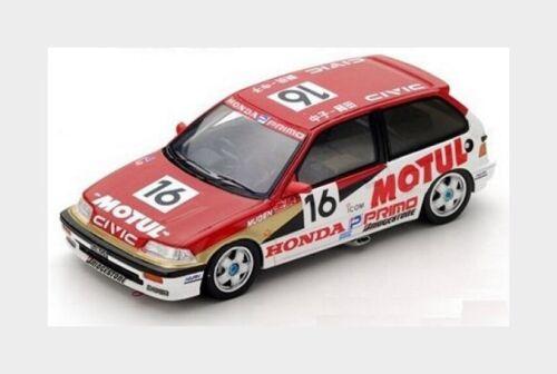 Honda Civic Ef3 Jtc #16 1989 O.Nakako T.Suzuki Red White SPARK 1:43 S5454 Model