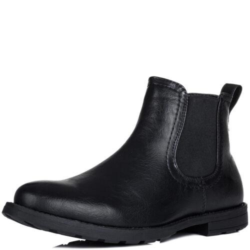 Mens Flat Casual Desert Chelsea Boots