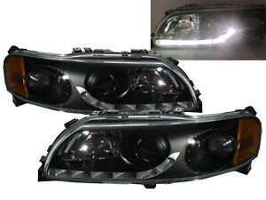 S60 MK1 00-04 PRE-FACELIFT 4D/5D Projector R8Look Headlight Black for VOLVO LHD
