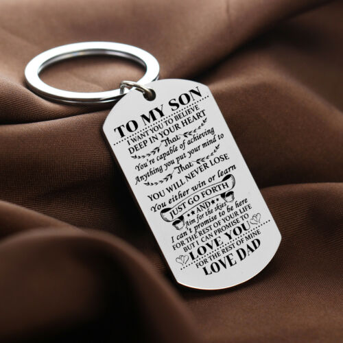 KEYRING Son Daughter Gifts For Mother Father Pendant keychain Key Chains Family