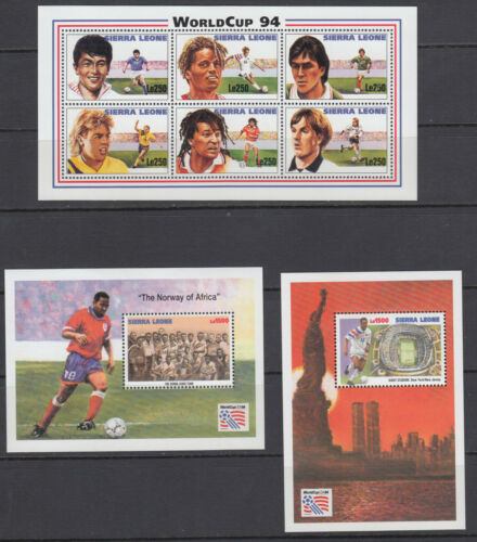 Sierra Leone Sc 17311733 MNH. 1994 World Cup Soccer, Sheet of 6 + 2 Souv Sheets