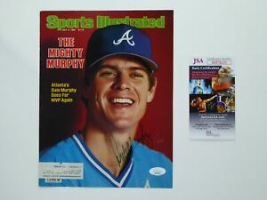 Dale Murphy Signed Sports Illustrated SI Magazine Cover JSA COA Atlanta Braves