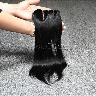 Brazilain Hair Top Front Lace Closure Natural Lace Closure Silky Straight #1B