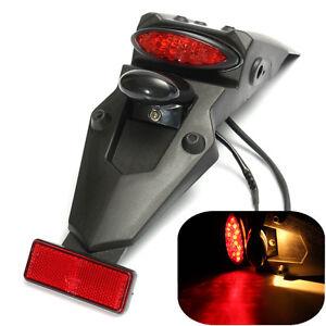 Universali-Portatarga-LED-Enduro-Moto-Trial-Quad-Faro-Stop-Fanale-Targa-Luci