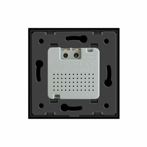LIVOLO Bewegungsmelder Sensorschalter Touch Glasrahmen VL-C7-01RG-12-A Schwarz