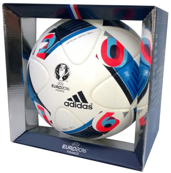 debate Zoológico de noche Mártir  adidas Performance Euro 16 Official Match Soccer Ball, size 5 -  White/Bright Blue/Night Indigo for sale online   eBay
