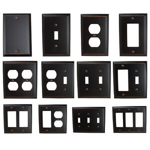 Details About Gliderite Oil Rubbed Bronze Light Switch Cover Duplex Outlet Wall Plates