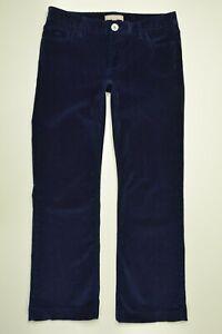 Banana-Republic-Size-26-SHORT-Womens-NAVY-BLUE-CORDUROY-Stretch-BOOTCUT-Pants