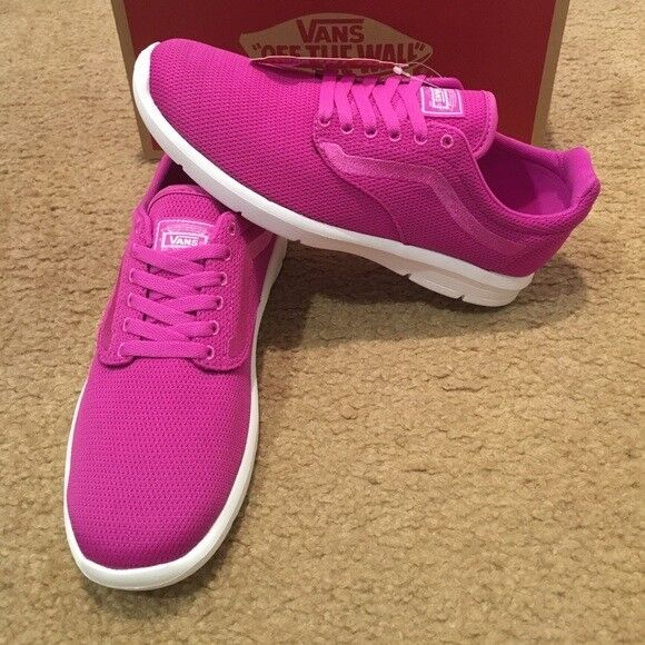9a2ed009a7 VANS ISO 1.5 Mens Pink Mesh Athletics Lace up Running Shoes 8 for sale  online