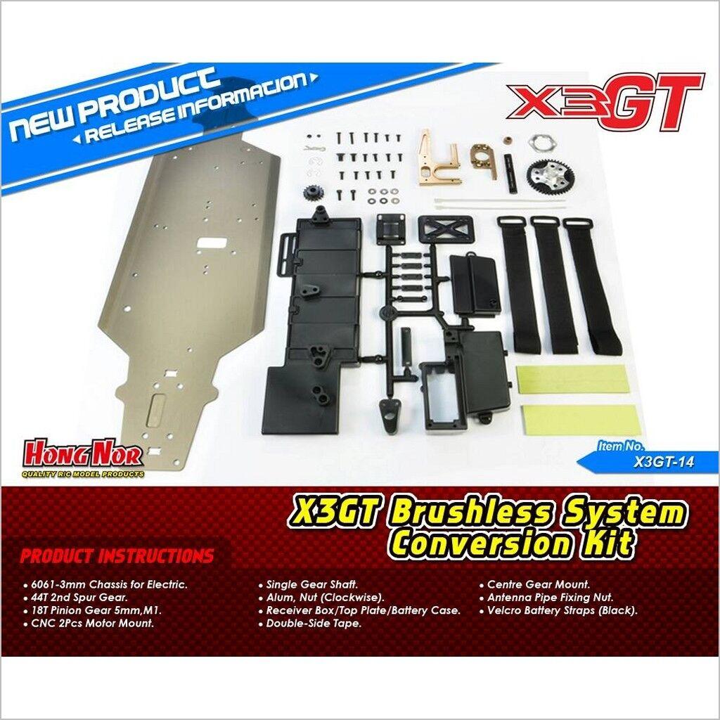Brstenlose system conversion kit   x3gt-14 (rc willenskraft) hongnor x3 gte   x3-gt
