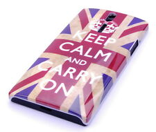 Schutzhülle f Sony Xperia S Lt26i Case Cover Tasche keep calm England UK GB