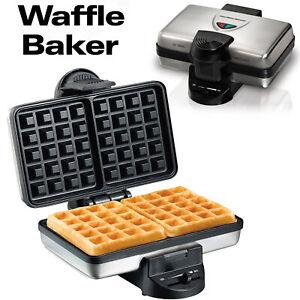 Belgian Waffle Maker Double Baker Stainless restaurant-style Breakfast kitchen