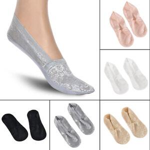 Women-Lace-Socks-Boat-Invisible-Anti-Skid-Low-Cut-No-show-Non-Slip-Liner-Socks