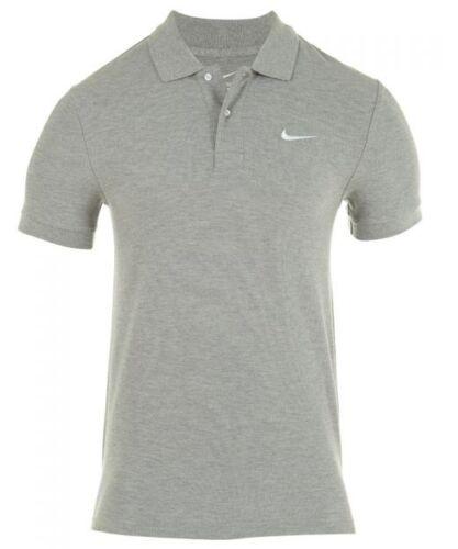 Grey /& Black New Men/'s Nike Cotton Pique Polo Shirt T-Shirt Top
