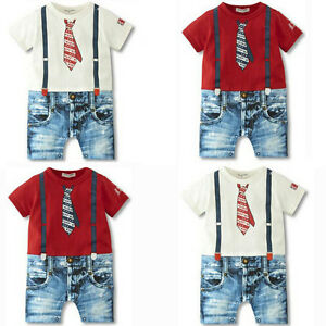 NEW-Baby-Boys-Kids-Overalls-Costume-Suit-Grow-Outfit-Romper-Pants-Clothes-3-24M