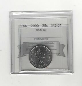 2000-Health-Coin-Mart-Graded-Canadian-Twenty-Five-Cent-MS-64