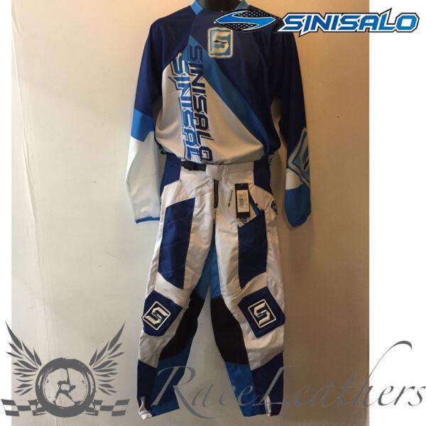 Briljant Sinisalo Blue White Mx Moto-x Offroad Motorbike Moto-x Jersey And Trouser Set