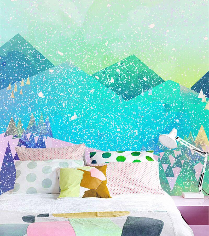 3D Weihnachtskarten 75  Fototapeten Wandbild Bild Tapete Familie Kinder