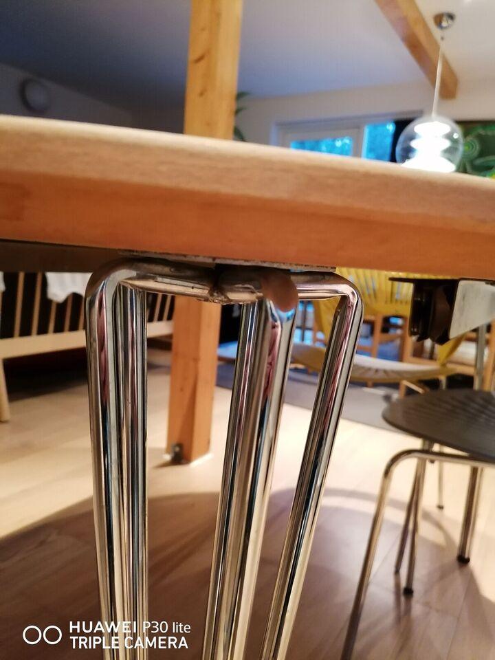 Spisebord, Træ, stål og laminat