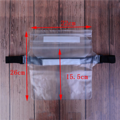 Pouch Bag Waterproof Case With Waist Strap For Beach Swimming Boat Kayaking .