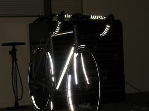 Velo-REFLECTIVE-Road-Bike-Handlebar-Tape-Bicycle-Bar-Wrap-Black