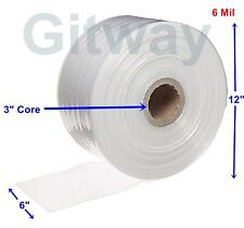 6 X 725 Clear Poly Tubing Tube Plastic Bag Polybags Custom Bags On A Roll 6ml