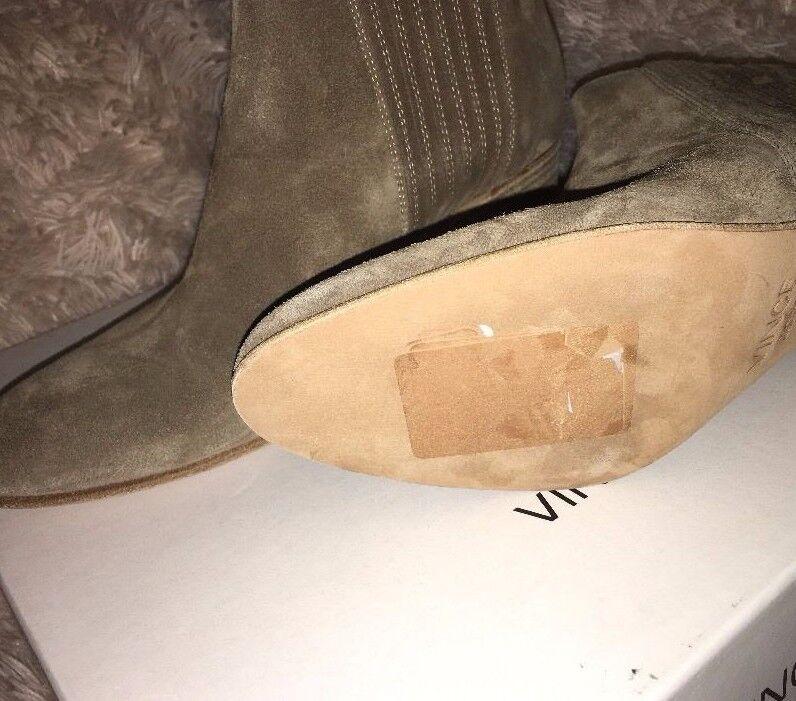 Vince Haider Suede Suede Suede Flint Stock Heel Stiefelie Ankle Stiefel sz 9.5 m eur 39.5 new b98efd