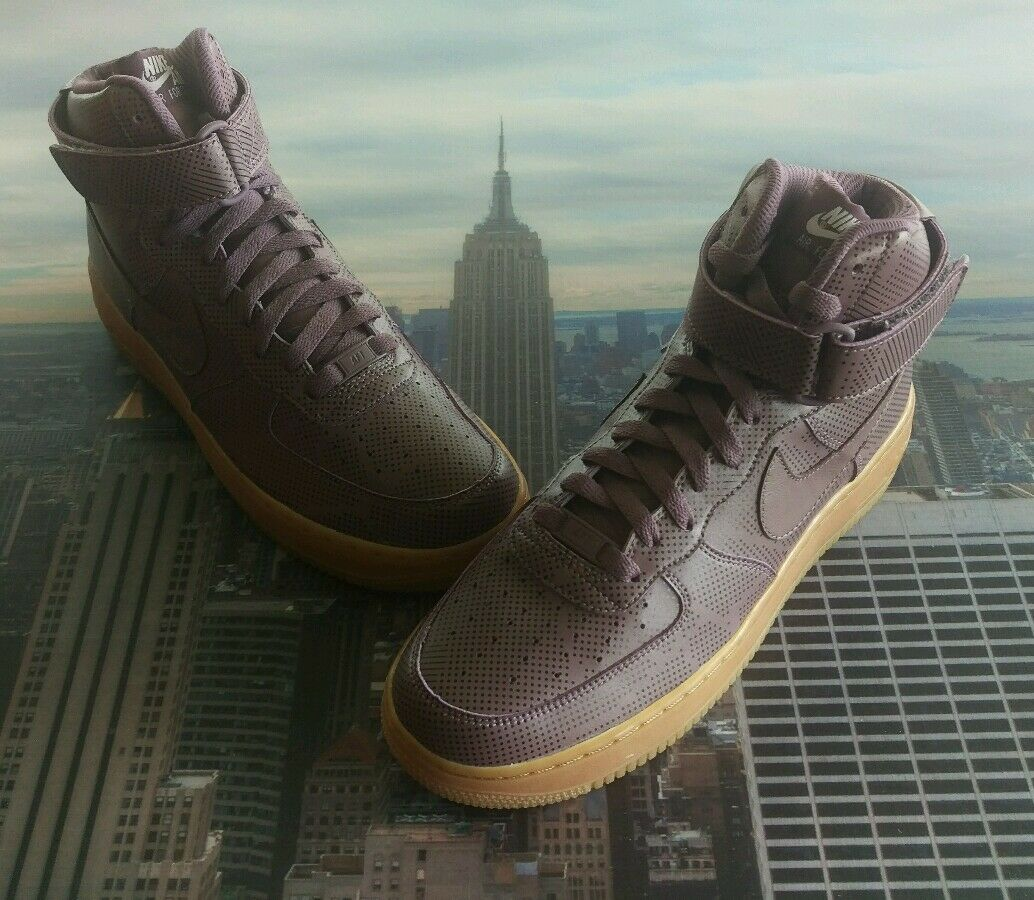 Nike iD Air Force 1 High Purple Gum-Black Dots Size 9 Low Mid 808785 999 New
