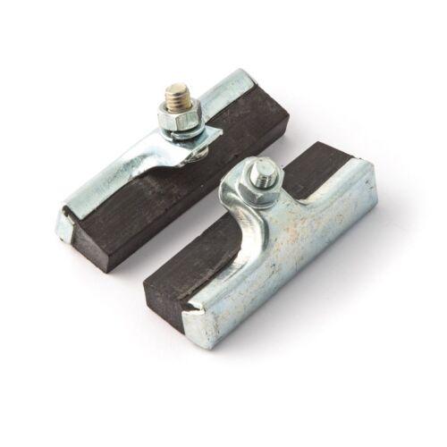 2x PATINS DE FREIN A TRINGLE GOMME NOIR 50 mm VELO RETRO VINTAGE ANCIEN RALEIGH