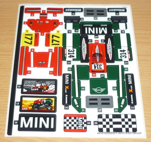 komplett Lego Speed Champions Aufkleber aus Set 75894