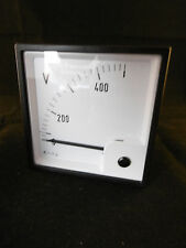 1x Voltmeter FQ0207 Input 500V Anzeige 0-400 V EC 96 EQ96 Messinstrument Neu OVP