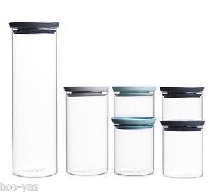 Brabantia-Latas-de-Reserva-Stabelbare-Glasser-Set-Envase-de-Cristal-Hermeticas