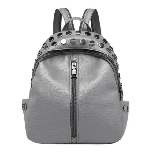 Women Backpack Tote Handbag Rivet PU Leather Shoulder Bag Satchel Purse Fa #Buy