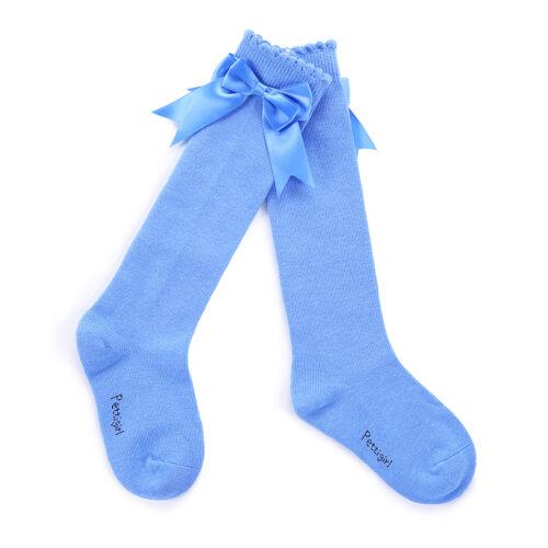 Children Girls Knee High Socks Toddler Kids Party School Bow Socks 5 Colors