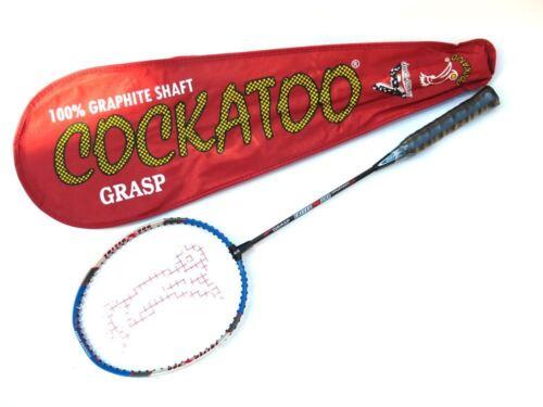 Cockatoo Grasp Badminton Racket Racquet Cary Case Club School Red
