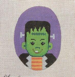 Gayla-Frankenstein-Boy-Handpainted-Needlepoint-Canvas